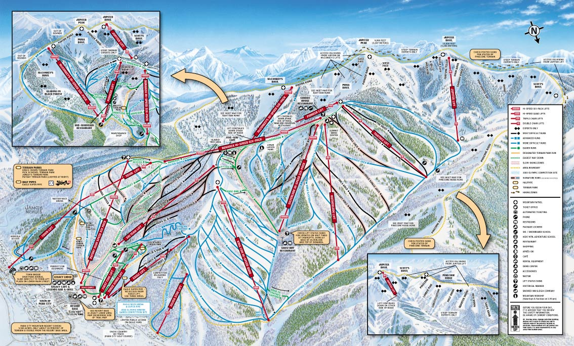 Park City Retreat Call Doug for Reservations Deer Valley Mountain Map on
